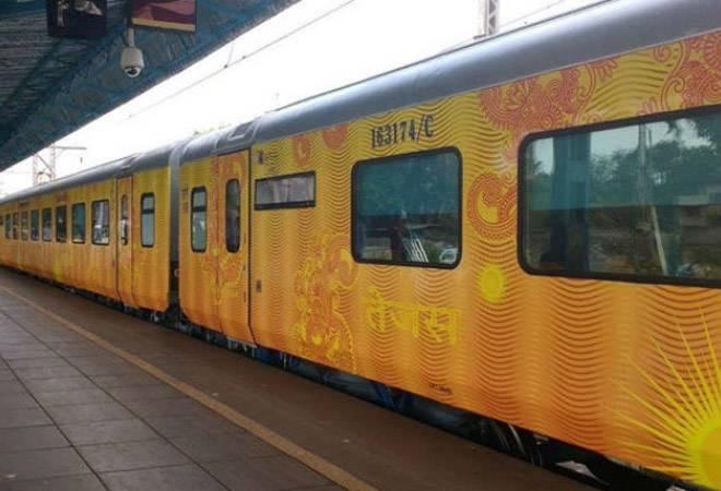 At least 26 people aboard the Mumbai-bound Tejas Express from Goa were  taken ill after consuming food served by the Railways' catering wing,  IRCTC, the Konkan Railway said.