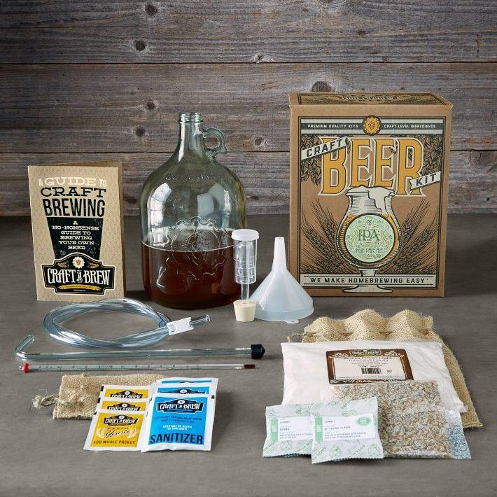 "<p><strong>Williams Sonoma</strong></p><p>williams-sonoma.com</p><p><strong>$49.95</strong></p><p><a href=""https://go.redirectingat.com?id=74968X1596630&url=https%3A%2F%2Fwww.williams-sonoma.com%2Fproducts%2Fwilliams-sonoma-ipa-craft-beer-kit&sref=https%3A%2F%2Fwww.womansday.com%2Flife%2Fg964%2Fgifts-for-men%2F"" rel=""nofollow noopener"" target=""_blank"" data-ylk=""slk:Shop Now"" class=""link rapid-noclick-resp"">Shop Now</a></p><p>If the man in your likes to enjoy his beer while chronicling the drink's journey from hops to bottle, then he'll love becoming a brewmaster at home. Plus, it's a great way to bring friends and family together over a pint of his homemade IPA.</p>"