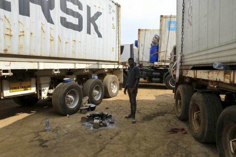 Hundreds of trucks are stuck at the border between Cameroon and the Central African Republic after rebels started to strike the RN1 highway -- the CAR capital's lifeline