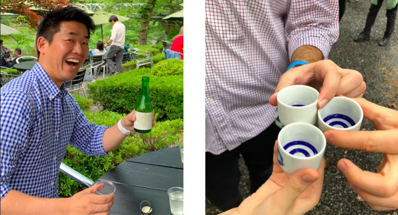 """Kanpai!"" Learn how to ""cheers"" and other sake-drinking customs. (Photo: Airbnb)"