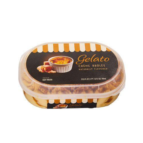 <p>Put down the blowtorch and pick up a spoon. The crème brûlée gelato lets you eat your favorite custardy dessert as a frozen treat. You don't get that crunchy top layer, but the flavors are <em>all</em> there.</p>