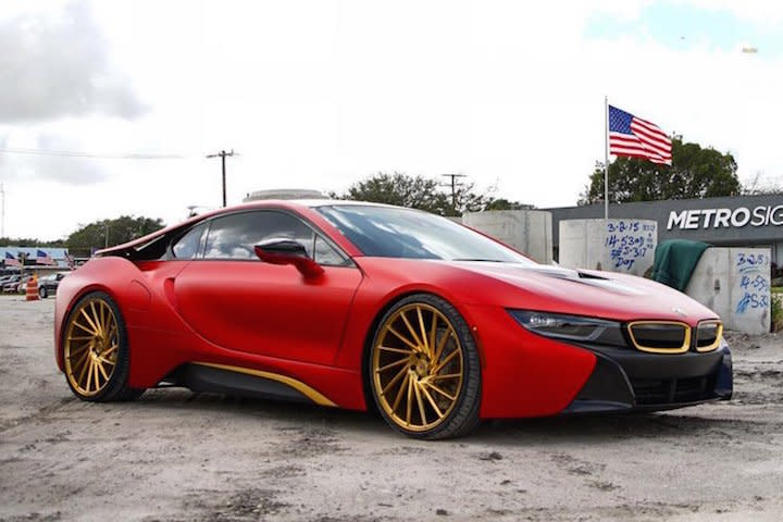 Hot Or Not Austin Mahone Gave His Bmw I8 A Unique Twist