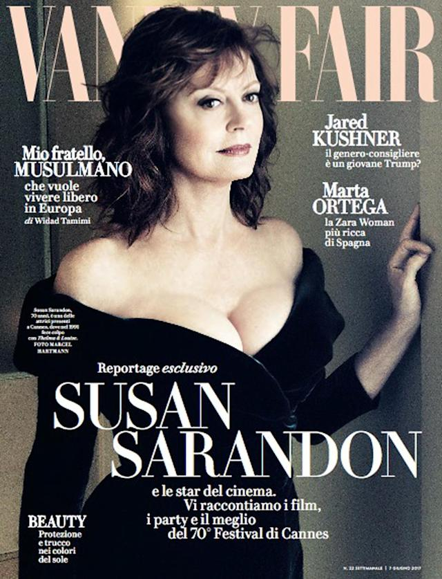 <p>The actress, who just recently celebrated a birthday, was 70 at the time of her Italian <em>Vanity Fair</em> cover in June 2017. (Photo: Vanity Fair) </p>