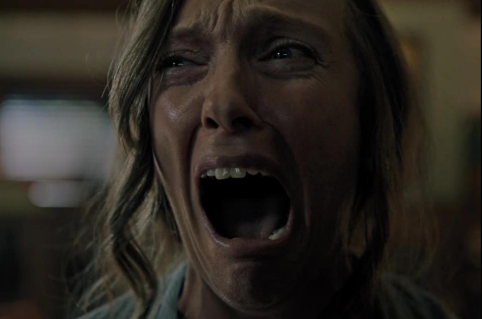 """<p>After terrifying audiences at the Sundance Film Festival, Ari Aster's feature directorial debut comes to theaters this summer. The<a rel=""""nofollow"""" href=""""https://www.yahoo.com/entertainment/tagged/Hereditary"""" data-ylk=""""slk:buzzy horror film"""" class=""""link rapid-noclick-resp""""> buzzy horror film</a> follows an artist (Toni Collette) whose mother's death reveals long-buried secrets and plunges her family into a living nightmare. 