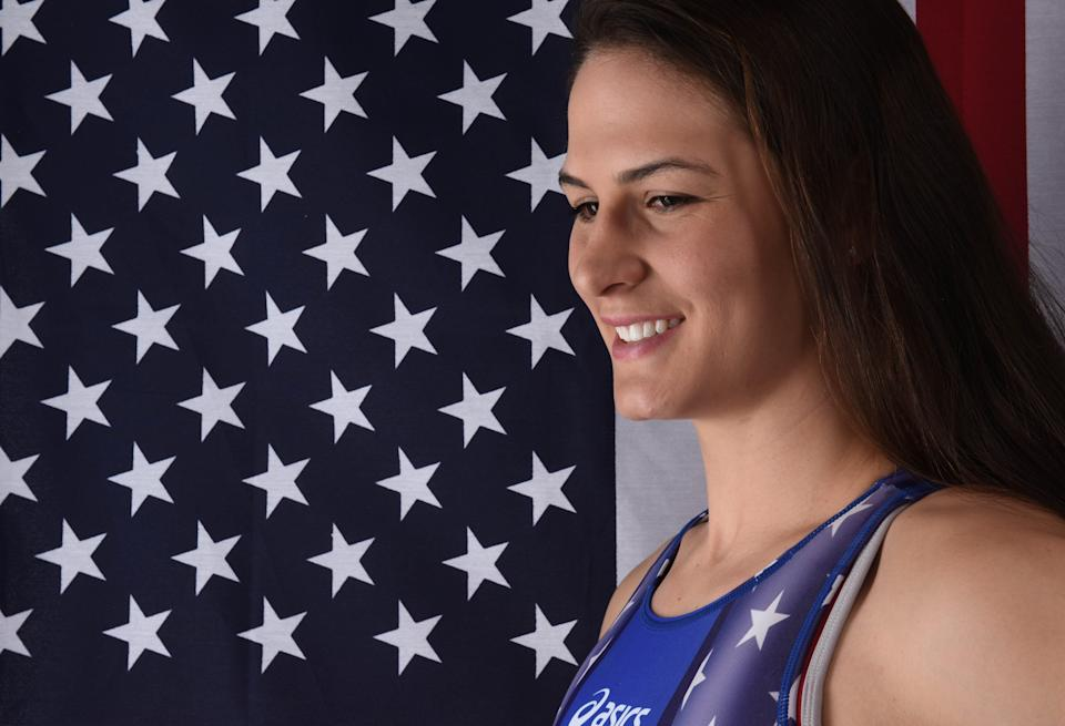 U.S. wrestler Adeline Gray encourages athletes to get vaccinated.