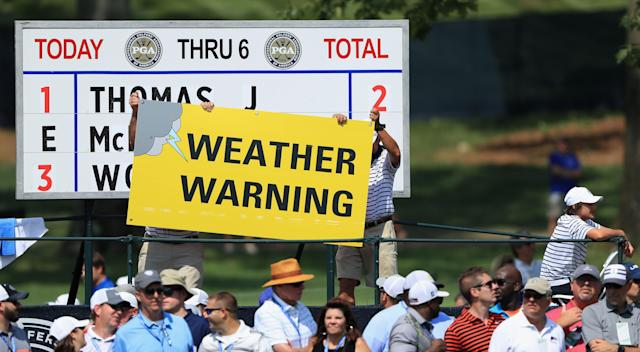 Weather closed down the PGA Championship a bit early on Friday.