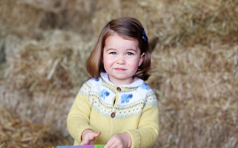 Princess Charlotte is photographed on her second birthday - PA