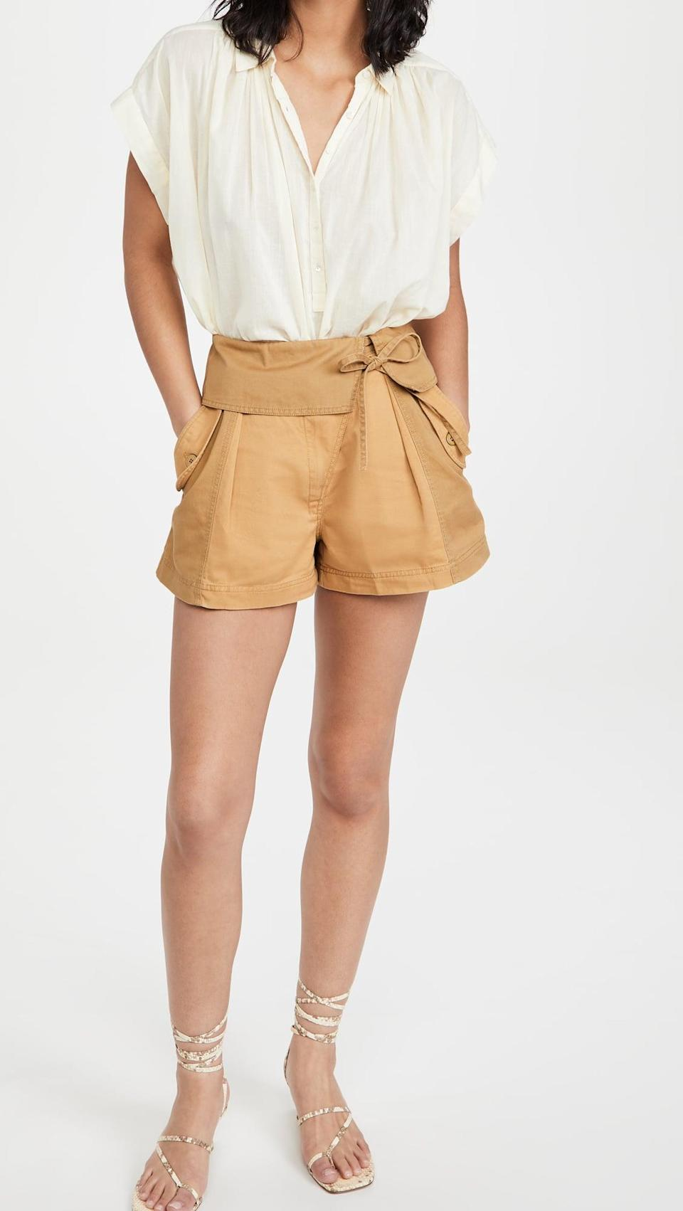 <p>We're coming in hot this summer with these adorable <span>Ulla Johnson Carter Shorts</span> ($245).</p>