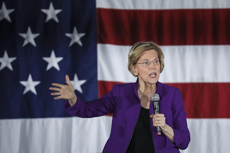 Senator Elizabeth Warren, a candidate for the Democratic presidential nomination, has supported reparations for the descendants of slaves (AFP Photo/Drew Angerer)