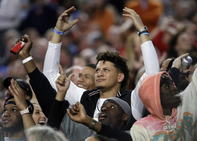 Will Kansas City Chiefs quarterback Patrick Mahomes be upset at his rating in Madden 20? (AP)