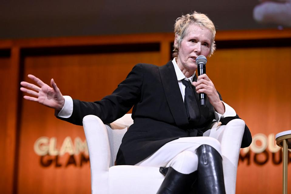 E. Jean Carroll speaks onstage during the How to Write Your Own Life panel at the 2019 Glamour Women Of The Year Summit at Alice Tully Hall in New York City.