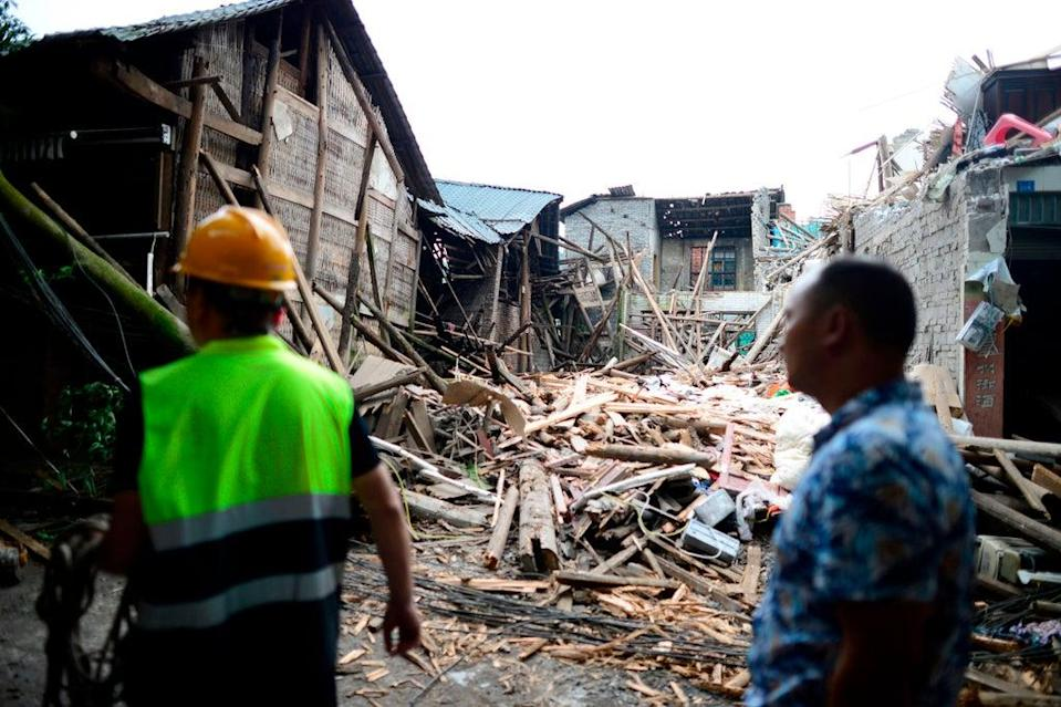 File: The epicentre of the earthquake was about 200km (120 miles) southeast of Chengdu (AFP via Getty Images)