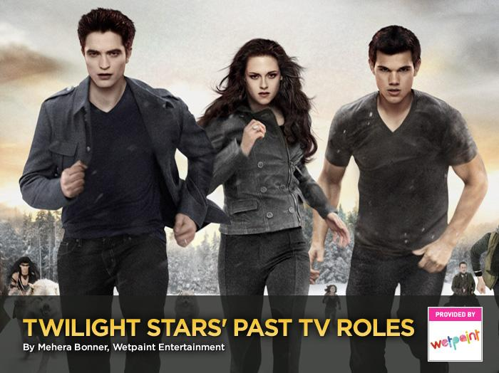 """The actors from """"<a href=""""http://movies.yahoo.com/movie/the-twilight-saga-breaking-dawn-part-2/"""">The Twilight Saga</a>"""" are, without question, blood-sucking megastars of the silver screen, but prior to making the transformation to glitterati, these guys and dolls cut their acting fangs on television gigs just like any other up-and-coming thespians. For starters, sink your teeth into this: Before he moved to Forks and developed that mysterious golden-eyed disease, Robert Pattinson took to the skies as a mentally unstable pilot, and his gal pal, Kristen Stewart, hung out with mermaids. And that's just the tip of the Twihard TV iceberg.<br><br>We've rounded up the """"Twilight"""" stars' most noteworthy TV roles so you can trace how they went from small-screen unknowns to international matinee idols.<br><br>(Plus, don't forget to watch <a href=""""http://movies.yahoo.com/movie/the-twilight-saga-breaking-dawn-part-2/"""" target=""""_blank"""">live coverage of the """"Breaking Dawn - Part 2"""" red carpet premiere</a> at 7:30 PM ET/4:30 PM PT on Monday, Nov. 12 on Yahoo!)"""