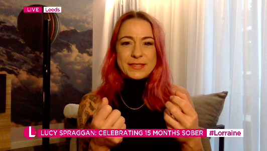 Lucy Spraggan is 15 months sober and has changed dramatically since her X Factor appearance. (ITV)