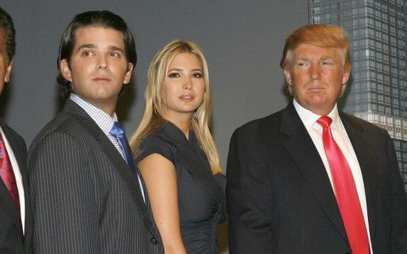 Donald Jr, Ivanka and Donald Trump at the launch of Trump SoHo in September 2007 - 2007 WireImage
