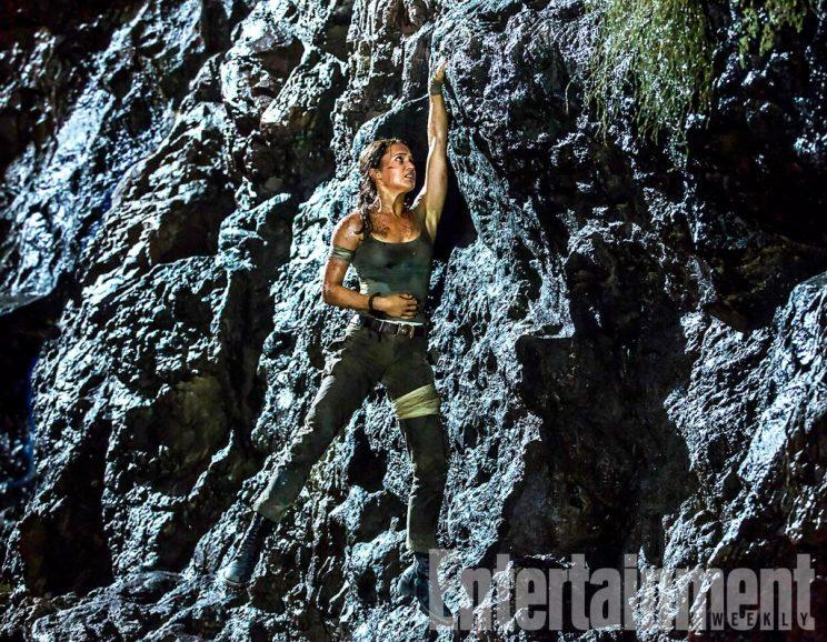 Hang about... Alicia Vikander in new Tomb Raider pic - Credit: Entertainment Weekly/Warner Bros