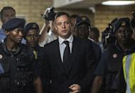 Pistorius could soon be back in prison if prosecutors are successful in their argument in the appeal court that he should have been convicted of murder rather than culpable homicide -- a charge equivalent to manslaughter (AFP Photo/Gianluigi Guercia)