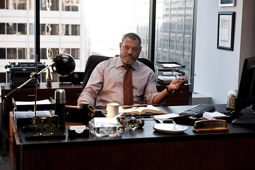 LAURENCE FISHBURNE as Perry White in Warner Bros. Pictures? and Legendary Pictures? action adventure ?MAN OF STEEL,? a Warner Bros. Pictures release.