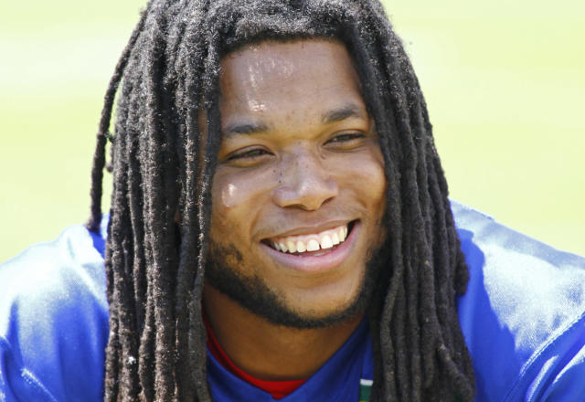 Former Bills receiver Kelvin Benjamin will join the Chiefs. (AP Photo/Jeffrey T. Barnes)