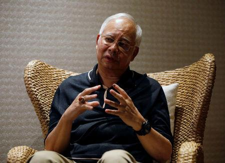Malaysia's former prime minister Najib Razak speaks to Reuters during an interview in Langkawi, Malaysia June 19, 2018. REUTERS/Edgar Su