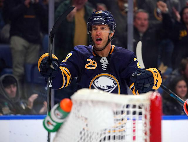 Jason Pominville is apparently weighing his options. Mandatory Credit: Kevin Hoffman-USA TODAY Sports