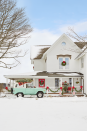 """<p>Every window and door of this <a href=""""https://www.countryliving.com/home-design/house-tours/g4929/farmhouse-packed-christmas-decorating-ideas/"""" rel=""""nofollow noopener"""" target=""""_blank"""" data-ylk=""""slk:Michigan farmhouse"""" class=""""link rapid-noclick-resp"""">Michigan farmhouse</a> gets a wreath for an ultra-festive feel.<br></p><p><a class=""""link rapid-noclick-resp"""" href=""""https://www.amazon.com/s/ref=nb_sb_noss_1?url=search-alias%3Dgarden&field-keywords=christmas+wreaths&tag=syn-yahoo-20&ascsubtag=%5Bartid%7C10050.g.23343056%5Bsrc%7Cyahoo-us"""" rel=""""nofollow noopener"""" target=""""_blank"""" data-ylk=""""slk:SHOP WREATHS"""">SHOP WREATHS</a></p>"""