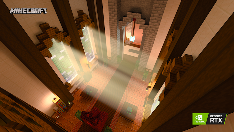 Minecraft with ray tracing technology