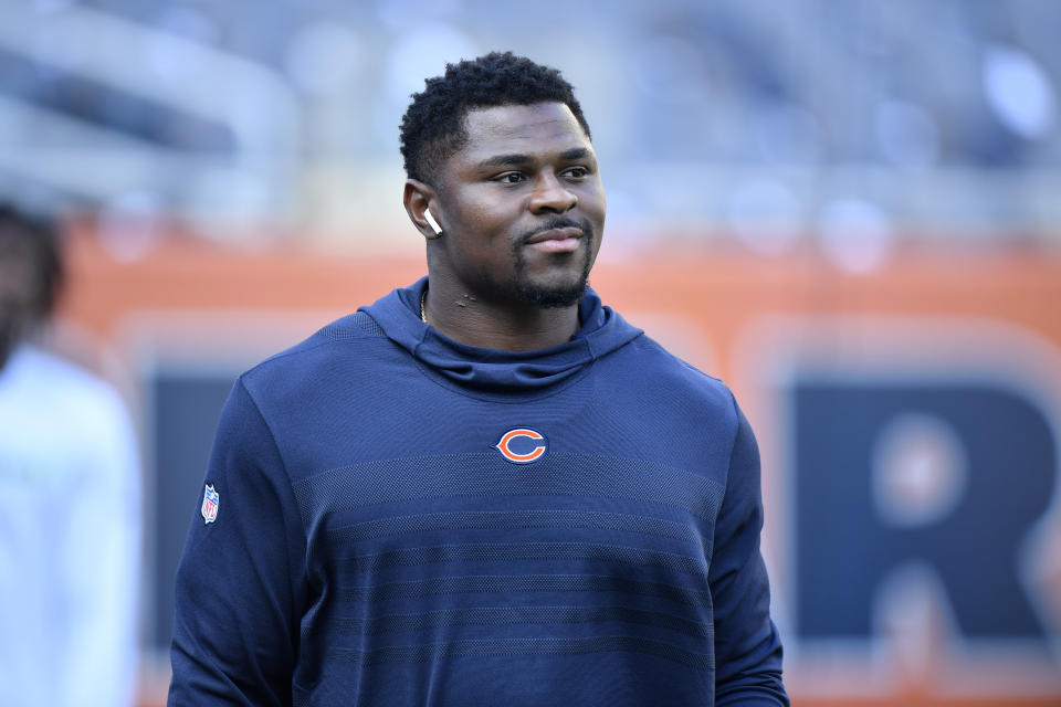 Bears linebacker Khalil Mack helped hundreds of families in his Florida hometown. (Quinn Harris/Getty Images)