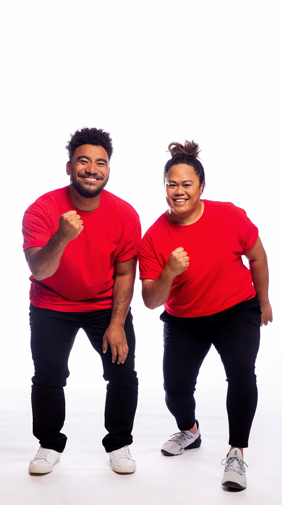 The Amazing Race Australia 2021 contestants Sefa and Jessica, NSW. Photo: Channel 10 (supplied).