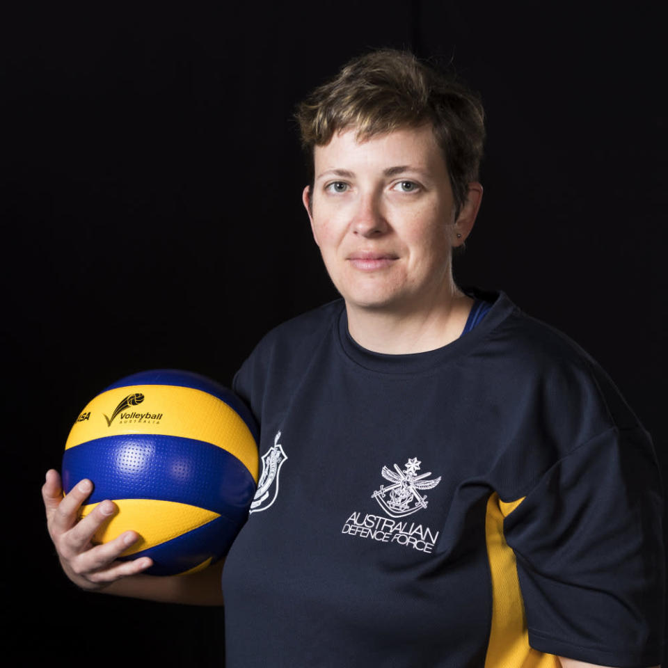 Carrie-Anne will compete for Australia in seated Volleyball. Photo: Department of Defence