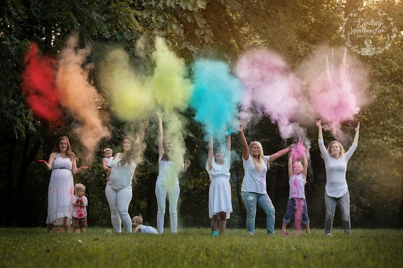 Photographer Lindsey Worthington captured six mothers who have experienced loss and found joy in the form of a rainbow baby.  (Lindsey Worthington Photography)
