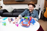 <p>Patrick Stump, composer and theme song vocalist for Marvel's <em>Spidey and His Amazing Friends</em>, gets a first look at some of the new toys from Hasbro that are slated to come out later this summer.</p>