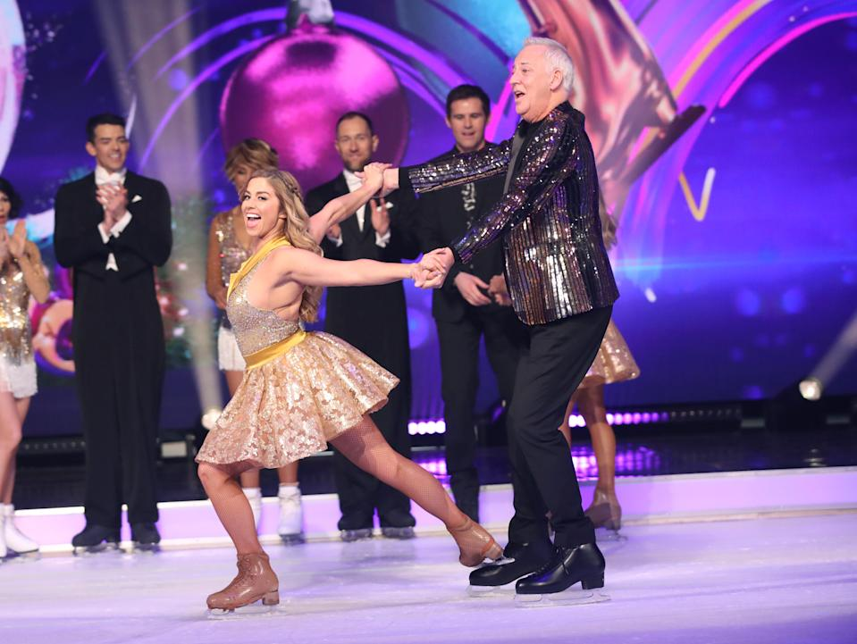 LONDON, ENGLAND - DECEMBER 09: Alex Murphy and Michael Barrymore during the Dancing On Ice 2019 photocall at ITV Studios on December 09, 2019 in London, England. (Photo by Mike Marsland/WireImage)