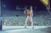 <p>Jagger dancing on stage during the Rolling Stones' 1975 Tour of the Americas.</p>