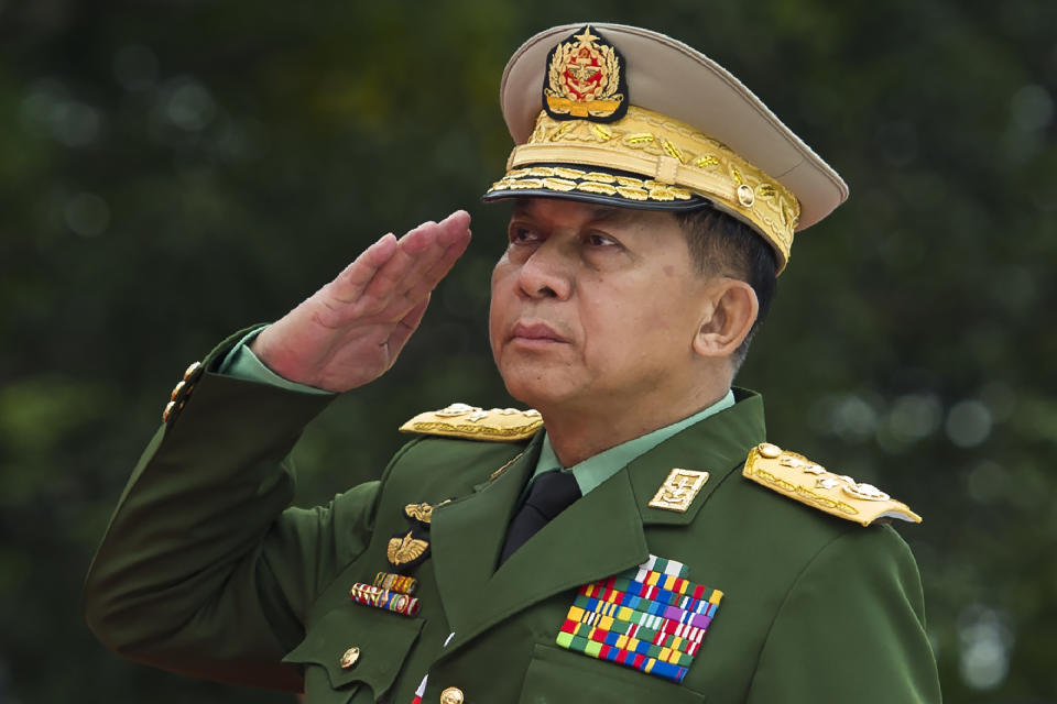 FILE PHOTO: Myanmar's Chief Senior General Min Aung Hlaing. (Photo: YE AUNG THU/AFP via Getty Images)