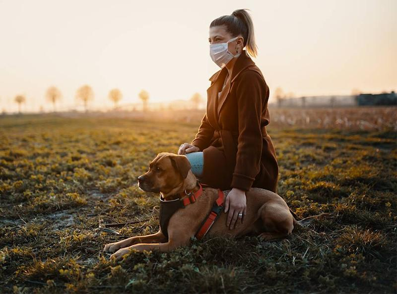 Mental Health Feature, Self-Care during pandemic, Walking dog outdoors
