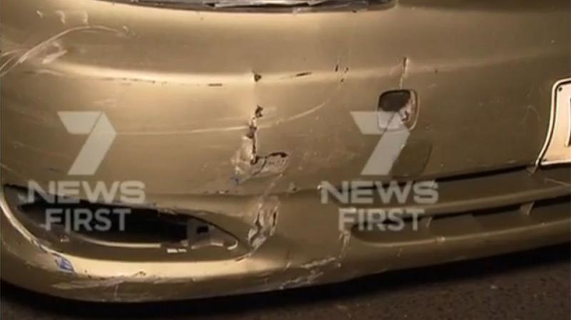The accident occurred near the residence of another Port Adelaide player. Photo: 7 News