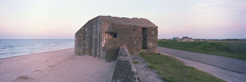 A former German defense bunker sits along a stretch of coastline that was known as 'Utah Beach' during the D-Day Beach landings on April 30, 2019 in Audouville-la-Hubert, on the Normandy coast, France. (Photo: Dan Kitwood/Getty Images)