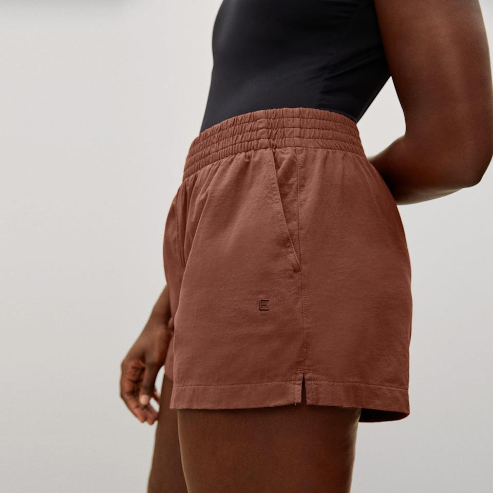 <p>When I have PMS, I have no interest in wearing anything remotely restrictive, which is why I'm always in loose sundresses or sweats on the days leading up to my period. In the summer, I gravitate toward super comfy and lightweight sweat shorts, like the <span>Everlane the Retro Jersey Short</span> ($38).</p>