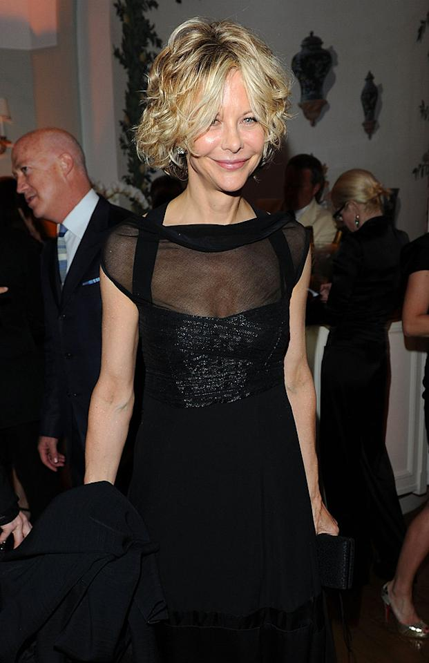 """Celebs including Meg Ryan, Oliver Stone, and Tim Burton dined on truffle risotto and sipped champagne at the hotel's bar overlooking the Mediterranean Sea. Venturelli/VF1/<a href=""""http://www.wireimage.com"""" target=""""new"""">WireImage.com</a> - May 15, 2010"""