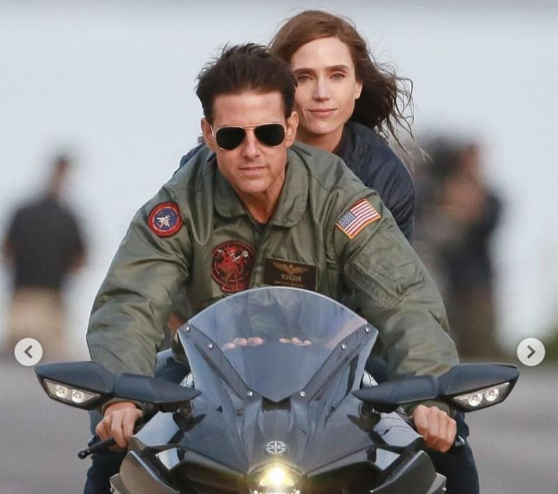 "Tom Cruise e Jennifer Connelly in ""Top Gun - Maverick"" (Paramount Pictures)."