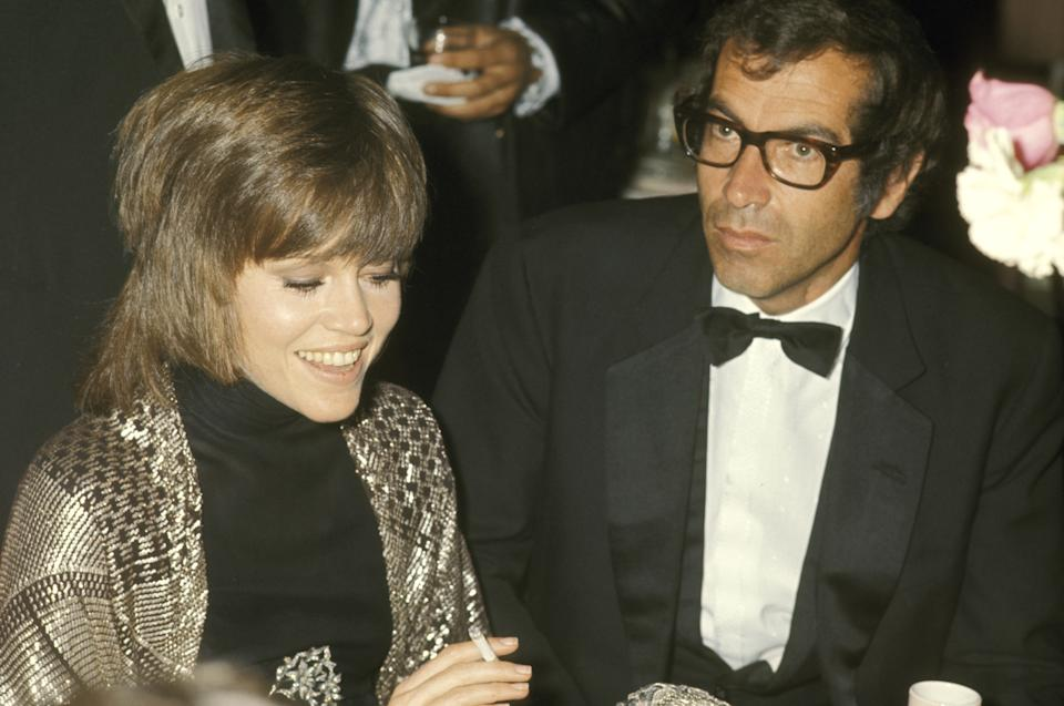 Jane Fonda and Roger Vadim during 42nd Annual Academy Awards at Dorothy Chandler Pavilion in Los Angeles, California, United States. (Photo by Ron Galella/Ron Galella Collection via Getty Images)