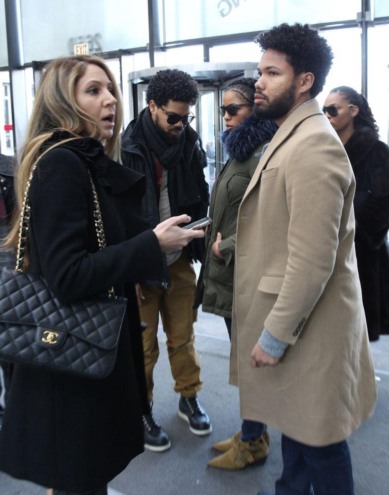 Jussie Smollett's familiy arriving at his bond hearing