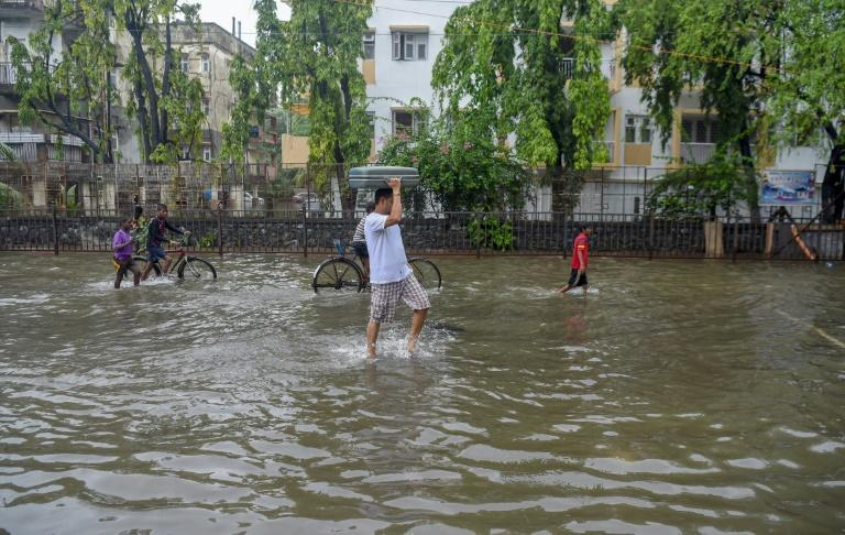 Heavy monsoon rains have crippled India's financial hub Mumbai