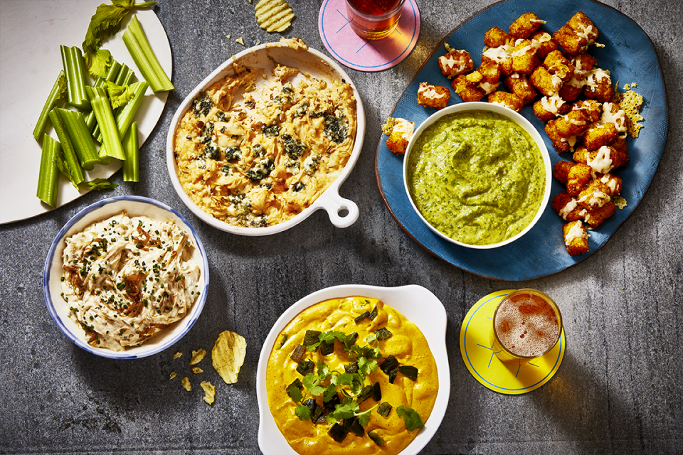 """<p>Super Bowl Sunday calls for a whole bunch of <a href=""""https://www.goodhousekeeping.com/food-recipes/party-ideas/g477/football-superbowl-snacks/"""" rel=""""nofollow noopener"""" target=""""_blank"""" data-ylk=""""slk:game-day snacks"""" class=""""link rapid-noclick-resp"""">game-day snacks</a>. It doesn't matter why you tune in — whether it's for the game, the half-time show, or even just the incredible <a href=""""https://www.goodhousekeeping.com/life/entertainment/videos/g3210/50-best-super-bowl-commericals/"""" rel=""""nofollow noopener"""" target=""""_blank"""" data-ylk=""""slk:Super Bowl commercials"""" class=""""link rapid-noclick-resp"""">Super Bowl commercials</a>. When it comes down to it, you've got about four hours to scarf down as much game-day grub as possible. <a href=""""https://www.goodhousekeeping.com/food-recipes/g4992/chicken-wings-recipes/"""" rel=""""nofollow noopener"""" target=""""_blank"""" data-ylk=""""slk:Chicken wings"""" class=""""link rapid-noclick-resp"""">Chicken wings</a>. Sliders. <a href=""""https://www.goodhousekeeping.com/food-recipes/party-ideas/g4967/easy-dip-recipes/"""" rel=""""nofollow noopener"""" target=""""_blank"""" data-ylk=""""slk:Party dips"""" class=""""link rapid-noclick-resp"""">Party dips</a>. They're all calling your name this Super Bowl Sunday. Because hey, if you're going to be watching the game at home, you might as well do it surrounded by delicious food. </p><p>If you want to develop a creative menu that will impress everyone who's gathered 'round your TV, we're here to help. Ahead, we've found the <strong>best Super Bowl appetizers</strong> that will have everyone coming back for more. It doesn't matter how many people you're cooking for. These Super Bowl apps are so easy that you can halve them or double them in a snap. And to make the evening even more memorable, play a few <a href=""""https://www.goodhousekeeping.com/life/g4953/super-bowl-party-games/"""" rel=""""nofollow noopener"""" target=""""_blank"""" data-ylk=""""slk:Super Bowl party games"""" class=""""link rapid-noclick-resp"""">Super Bowl party games</a> while you wait for the coin toss."""