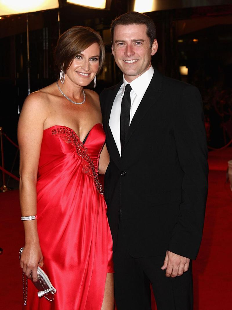 The reports also says Karl, pictured in 2011 with ex-wife Cassie, had his vasectomy reversed. Source: Getty