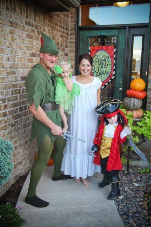 """<p>Who says you have to grow up?! Get the whole family involved in these <em>Peter Pan</em> getups. </p><p><strong>Get the tutorial at <a href=""""https://happyhomefairy.com/fun-halloween-costume-ideas-for-the-family/"""" rel=""""nofollow noopener"""" target=""""_blank"""" data-ylk=""""slk:Happy Home Fairy"""" class=""""link rapid-noclick-resp"""">Happy Home Fairy</a>.</strong> </p>"""