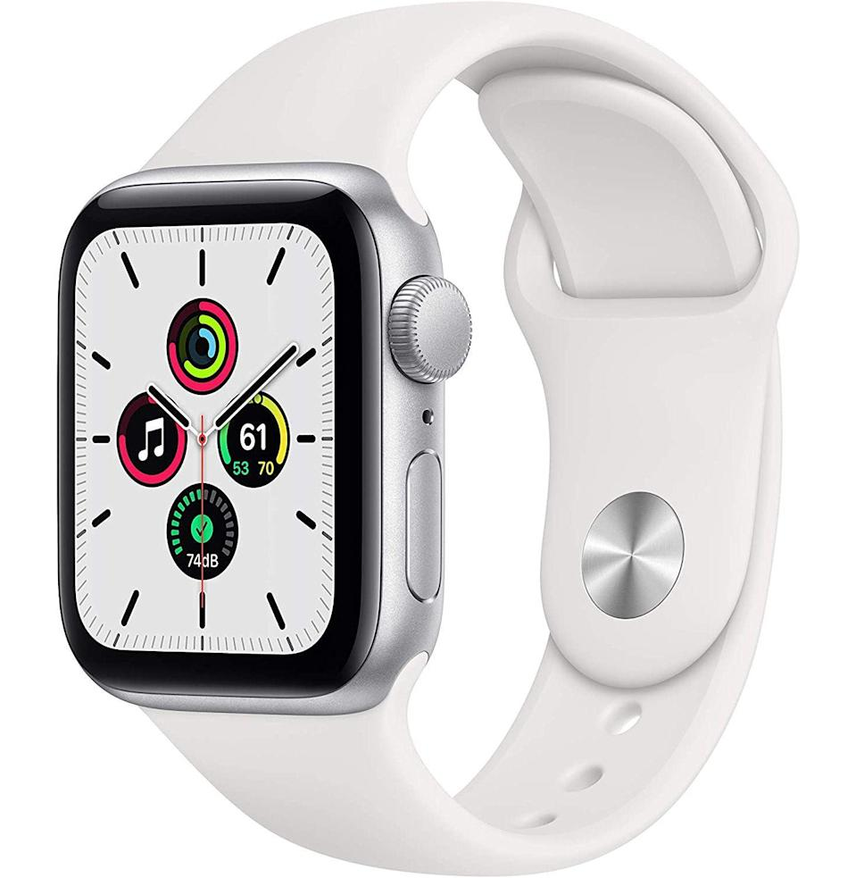"<p><strong>Apple</strong></p><p>amazon.com</p><p><strong>$279.00</strong></p><p><a href=""https://www.amazon.com/New-Apple-Watch-SE-40mm/dp/B08J5XX59T?tag=syn-yahoo-20&ascsubtag=%5Bartid%7C10054.g.35842602%5Bsrc%7Cyahoo-us"" rel=""nofollow noopener"" target=""_blank"" data-ylk=""slk:Buy"" class=""link rapid-noclick-resp"">Buy</a></p><p>Your wife's got a lot of things to keep track of. An Apple Watch is the next best thing to a personal assistant.</p>"