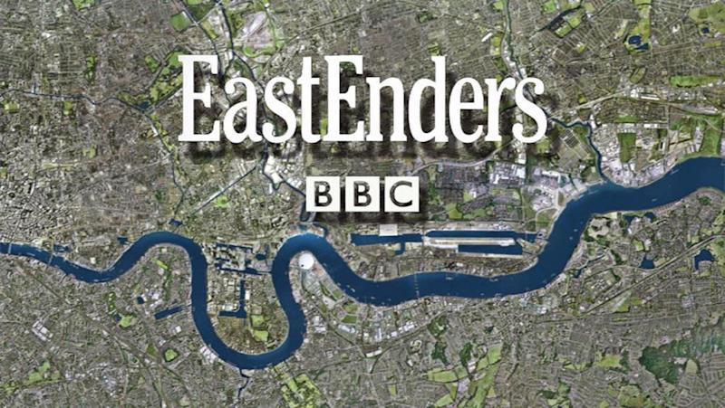 Undated handout file photo issued by BBC of the EastEnders logo. The BBC One soap is set to resume filming by the end of June, a BBC boss has said.