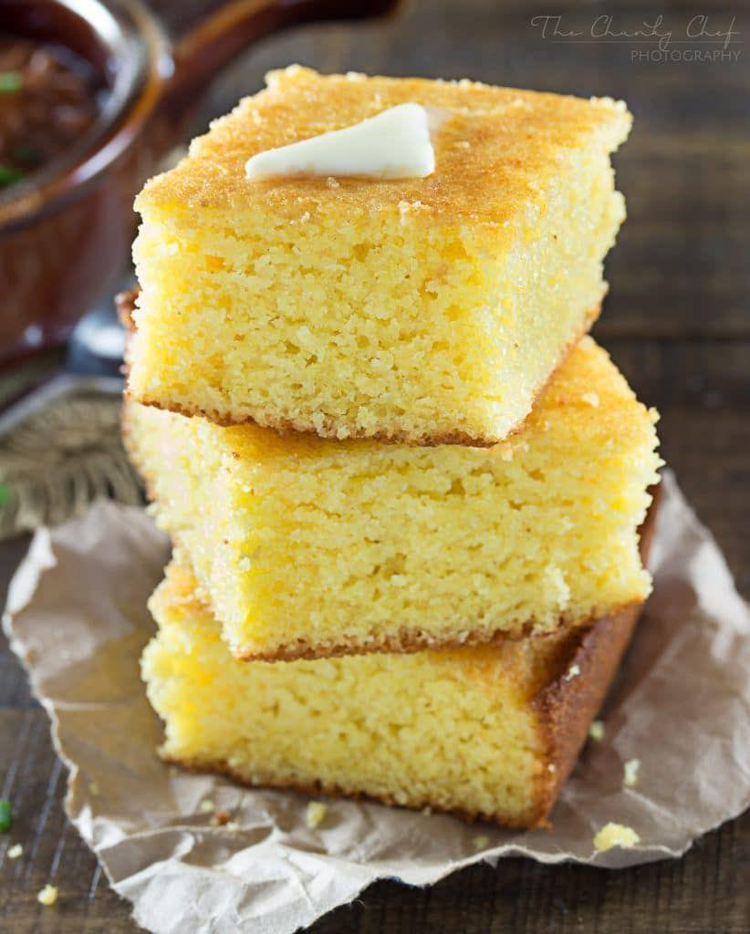 "<p>Every Southerner knows it's simply not a complete feast without cornbread on the table. This version is a perfect balance of sweet and savory. </p><p><strong>Get the recipe at <a href=""https://www.thechunkychef.com/homestyle-cornbread/"" rel=""nofollow noopener"" target=""_blank"" data-ylk=""slk:The Chunky Chef"" class=""link rapid-noclick-resp"">The Chunky Chef</a>.</strong> </p><p><strong><a class=""link rapid-noclick-resp"" href=""https://www.amazon.com/dp/B074Z5X8MT/?tag=syn-yahoo-20&ascsubtag=%5Bartid%7C10050.g.896%5Bsrc%7Cyahoo-us"" rel=""nofollow noopener"" target=""_blank"" data-ylk=""slk:SHOP BAKING DISHES"">SHOP BAKING DISHES</a><br></strong></p>"